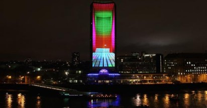 Nokia Lumia Live on Millbank Tower