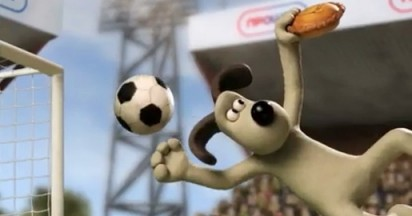 NPower Wallace and Gromit Back FIFA Bid with Hand of Dog