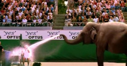 Optus Elephant at Australian Open Tennis