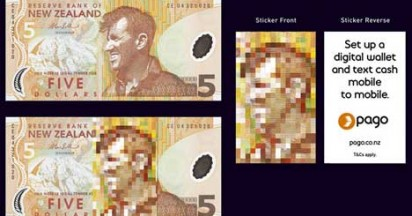 Edmund Hillary on Pago Money Stickers