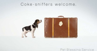 Coke Sniffers Welcome at Pet Service