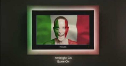 Philips Ambilight Screen Paints Football Fan Faces For World Cup