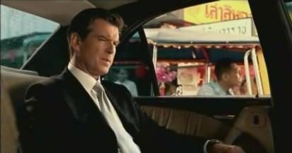 Visa Tuk Tuk carries Pierce Brosnan as Bond