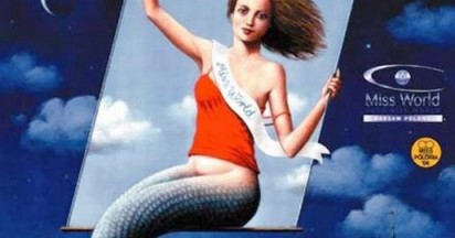Warsaw Mermaid Swings for Miss World