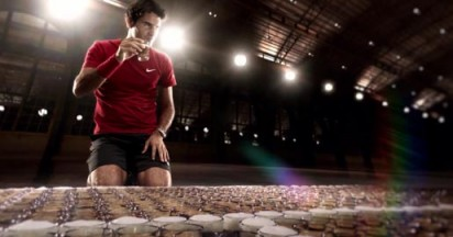 Roger Federer on Jura Coffee Court