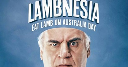 Sam Kekovich with Lambnesia