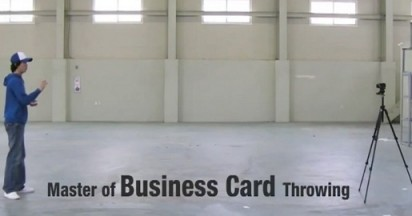 Samsung Master of Business Card Throwing