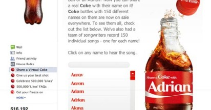 Coca Cola Names Bottles and Cans
