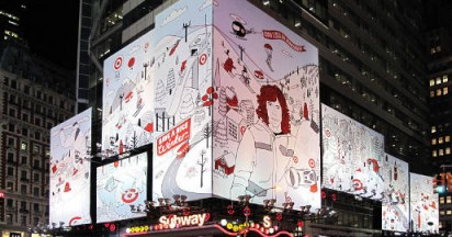 Shaun White Target Line in Times Square