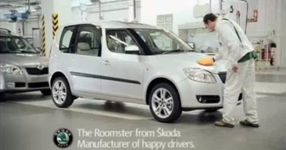 Skoda Roomster assembled with Factory Giggles