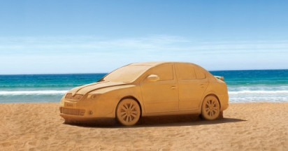 Skoda Sand Car on Sydney beach