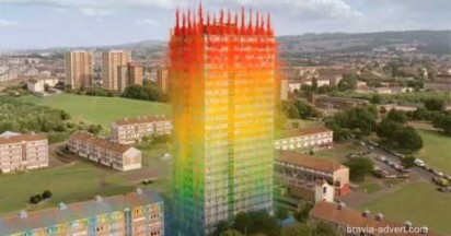 Sony Bravia Paint Fireworks In Glasgow