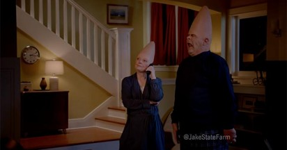 Jake from State Farm meets Cone Heads