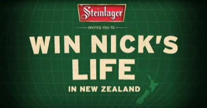 Steinlager Win Nick's Life In New Zealand