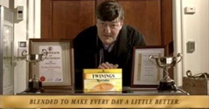 Stephen Fry Brews Twinings Everyday Tea