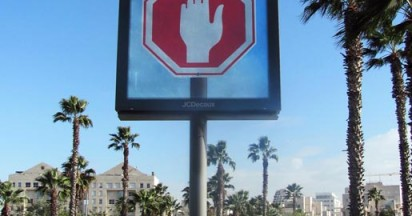 Stop Sign with Finger