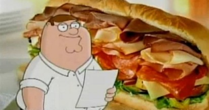 Family Guy Ode to the Subway Feast