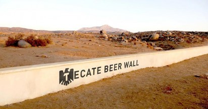 Tecate Beer Wall paid for by Mexico