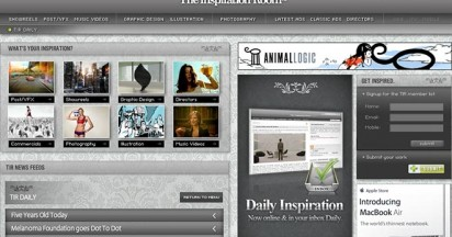 The Inspiration Room is Adobe Site of the Day