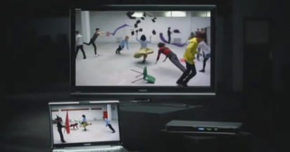 Toshiba Timesculpture Upscaling in Bullet Time Effect