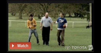 Toyota AFL Moments recreated