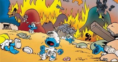 UNICEF bring in Smurfs for aid in Africa