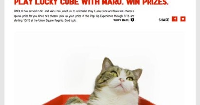 Uniqlo Lucky Cube with Maru