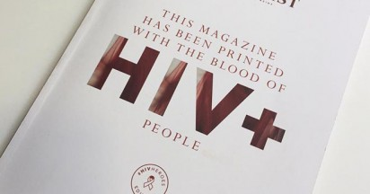 Vangardist Cover Infused with HIV-Positive Blood