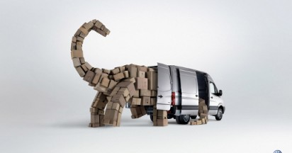 Volkswagen Crafter Dinosaur and Robot