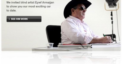 Volvo and Esref Armagan the blind artist
