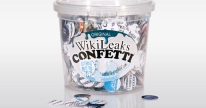 Wikileaks Confetti Spread the Truth